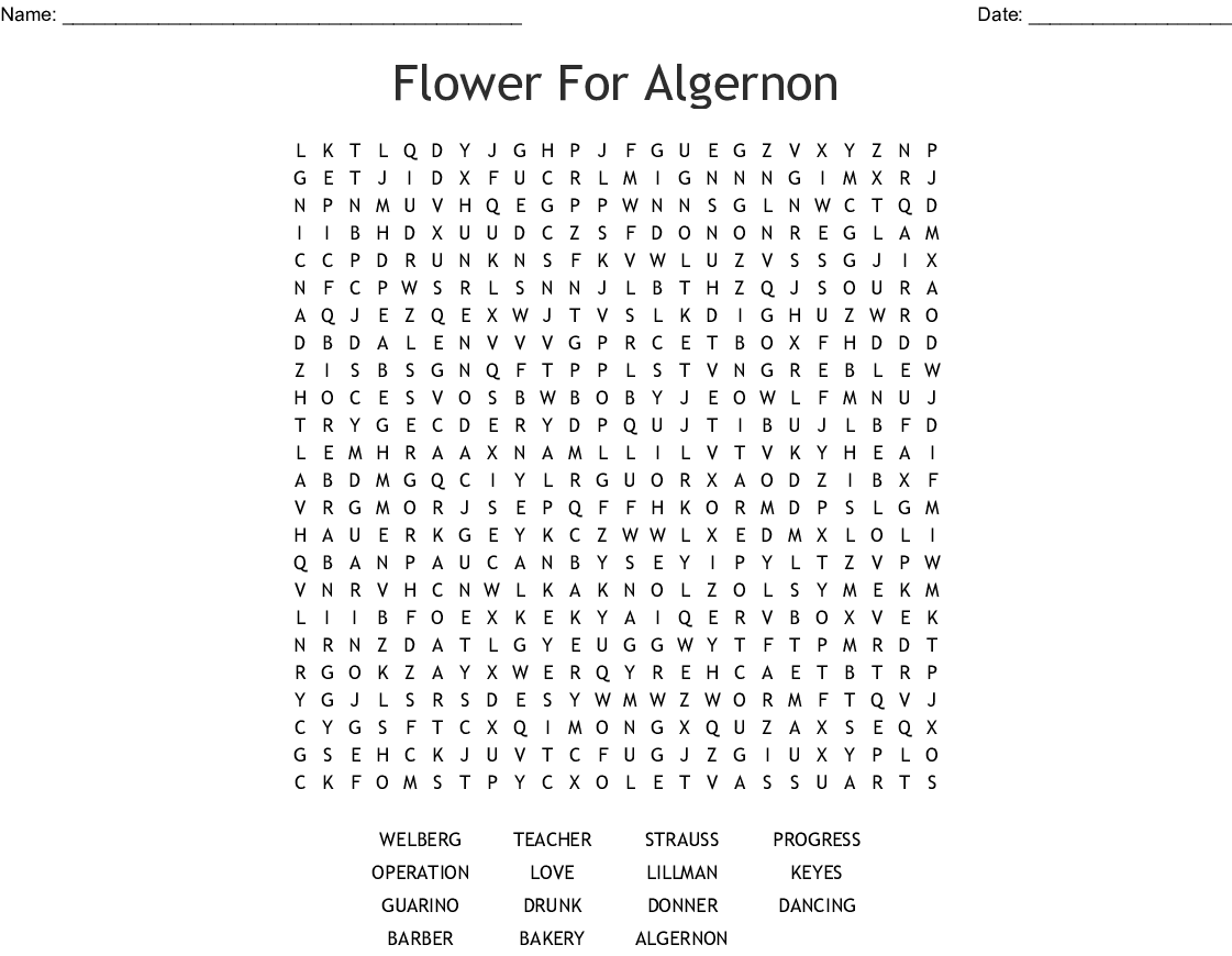 Flowers For Algernon Answer Key
