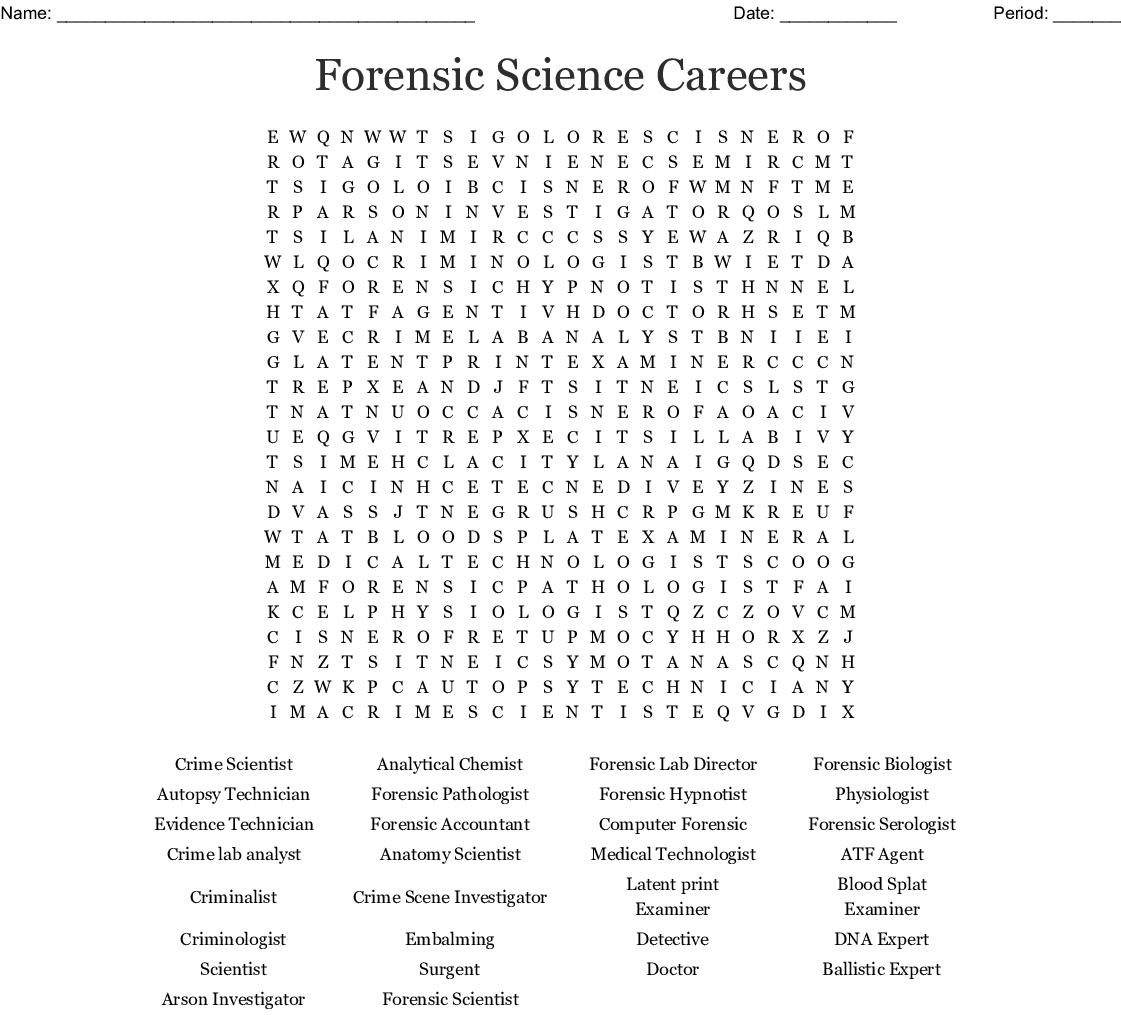 Forensic Bones Worksheet Answers