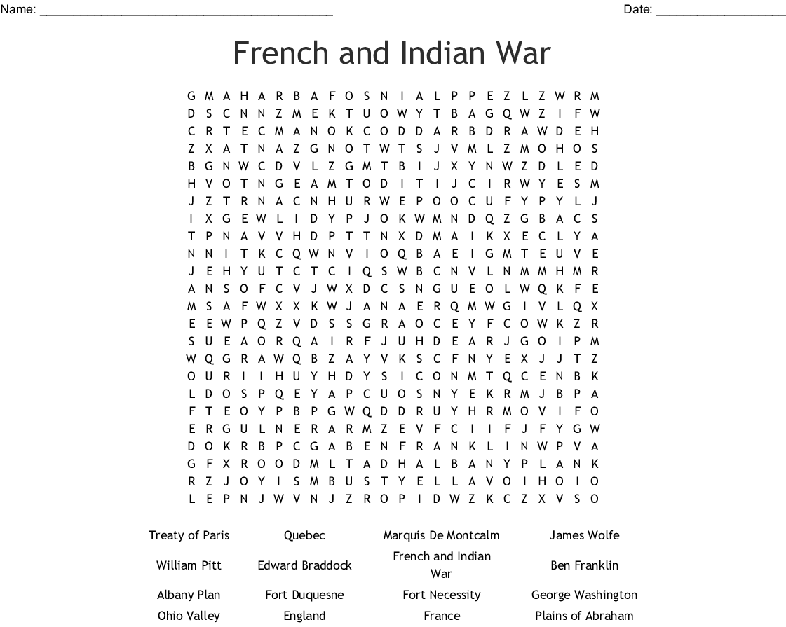 Indian Word Search Worksheet