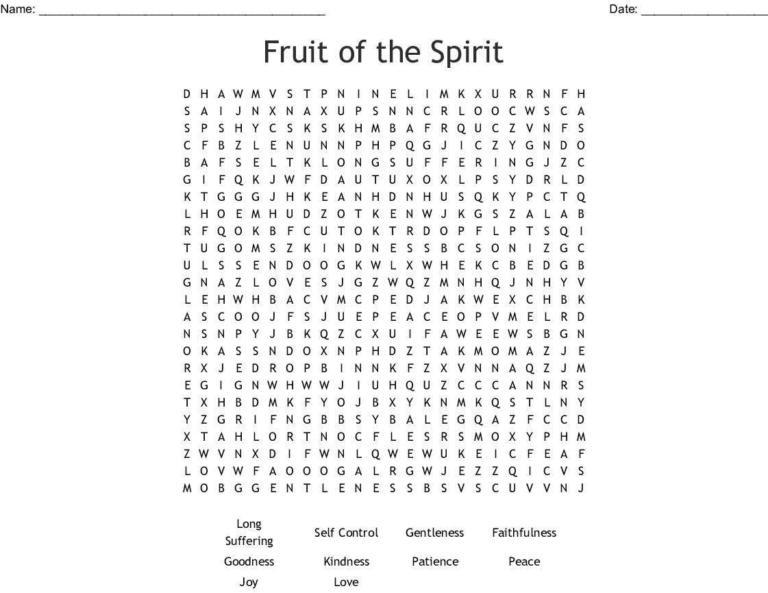 Spirituality Word Search