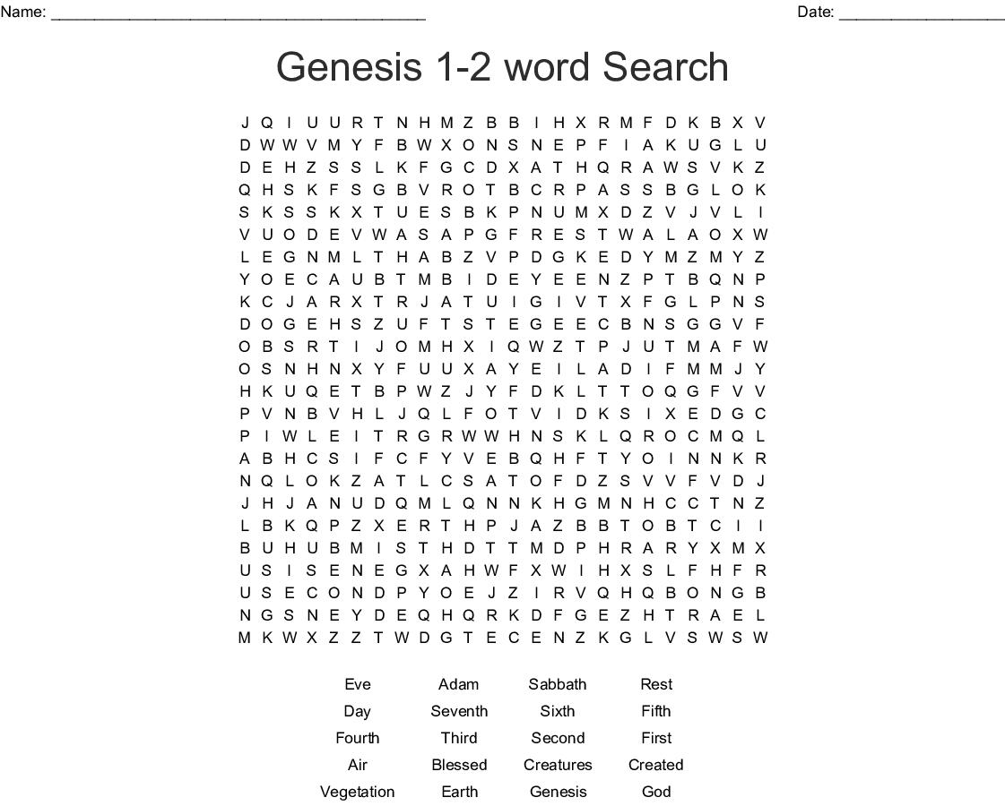 Genesis 1 27 Word Search