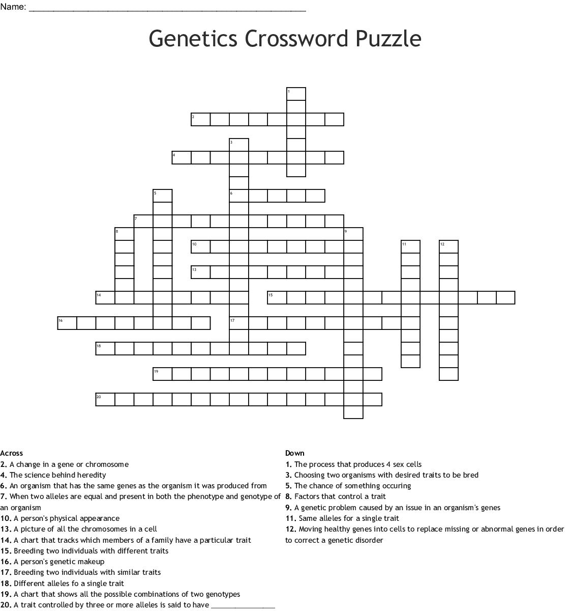 Evolution Crossword