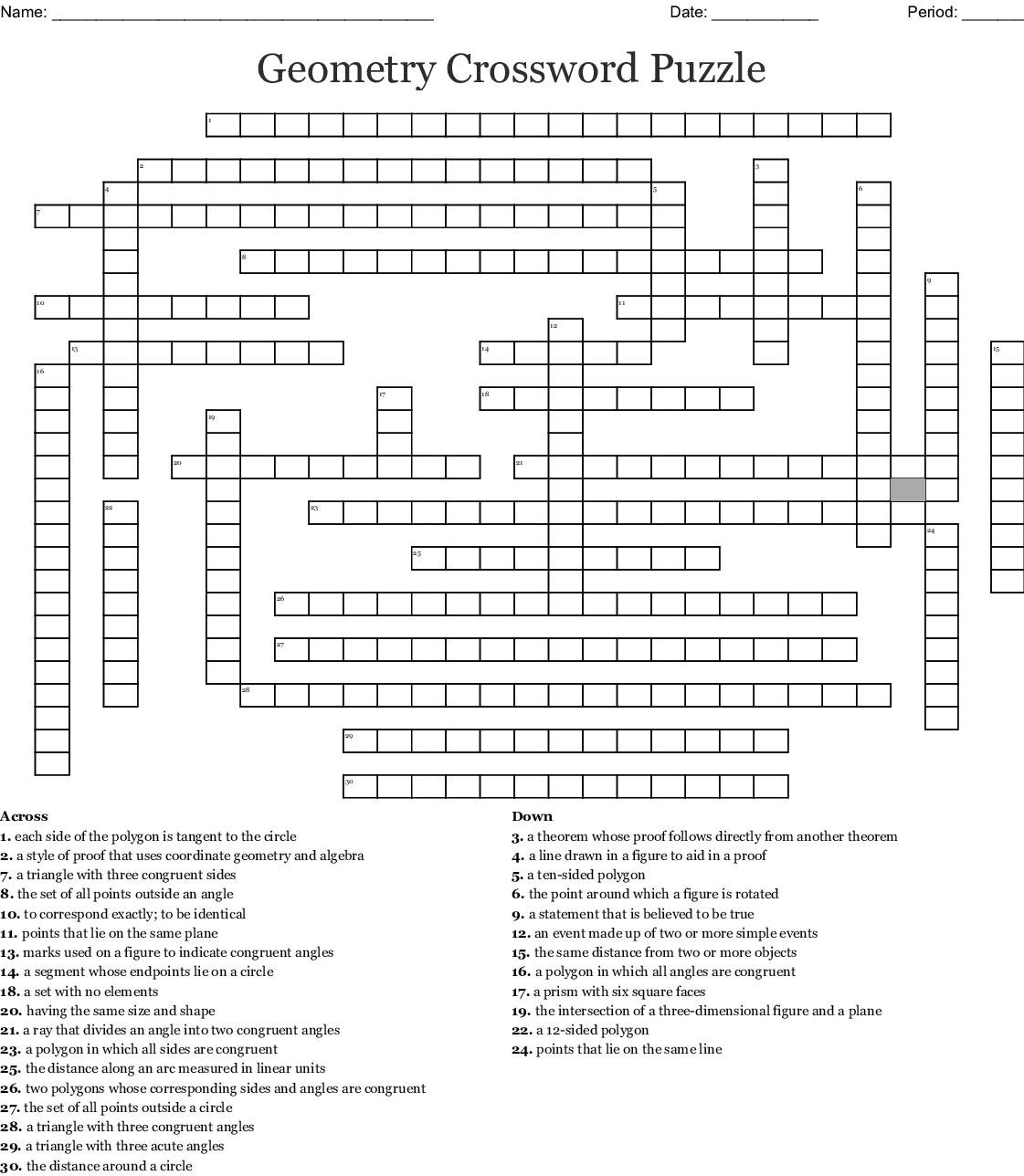 Cross Section Geometry Worksheet