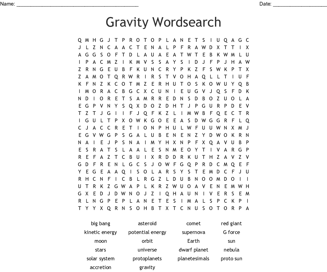 Gravity Exploration Worksheet Answers
