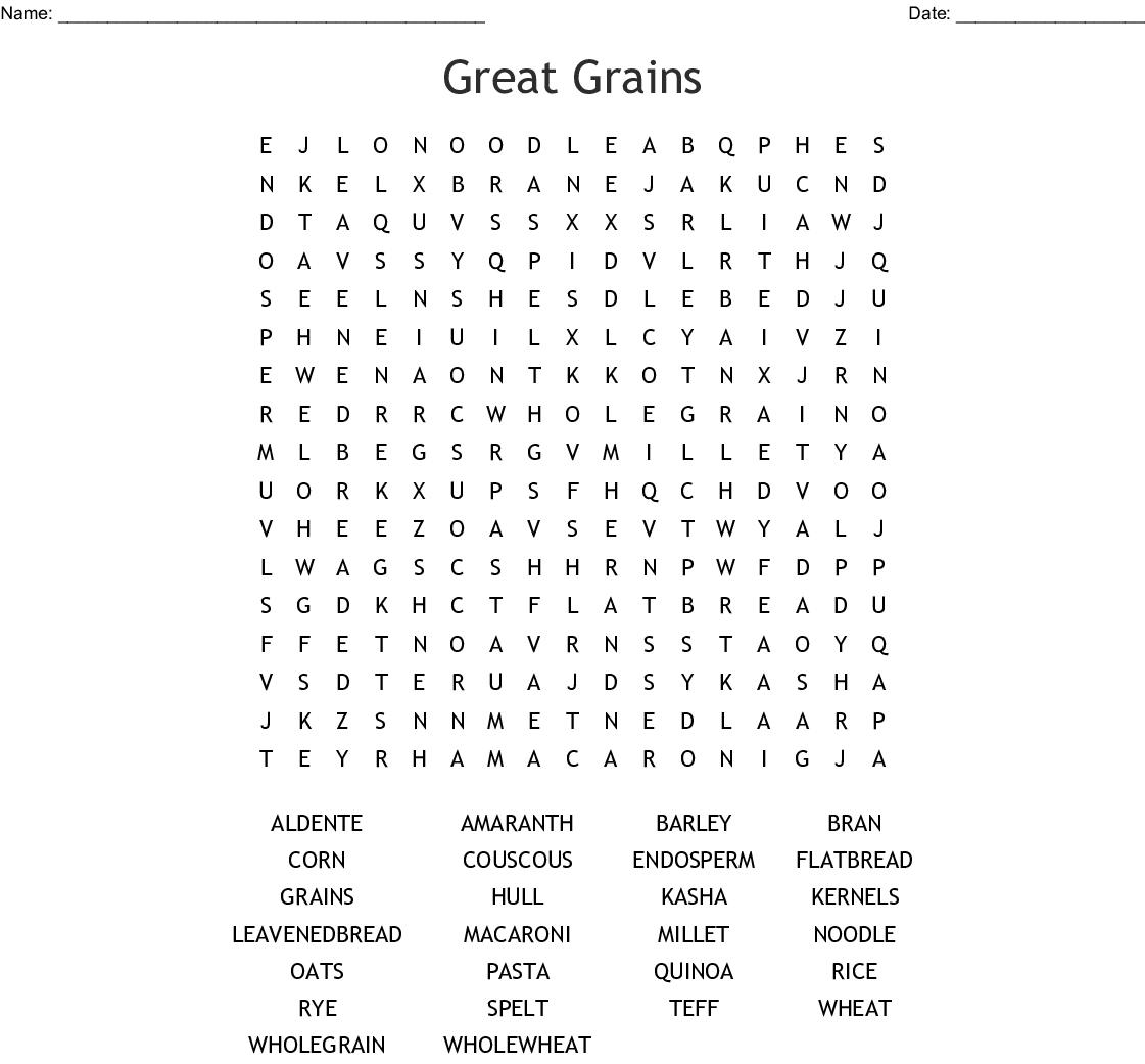 Grains Crossword