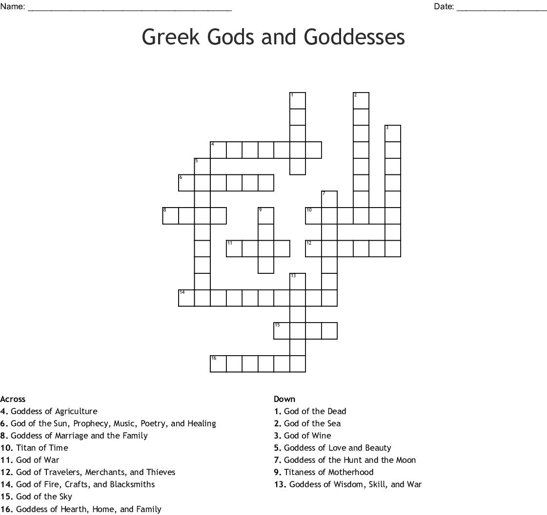 Zeus Word Search