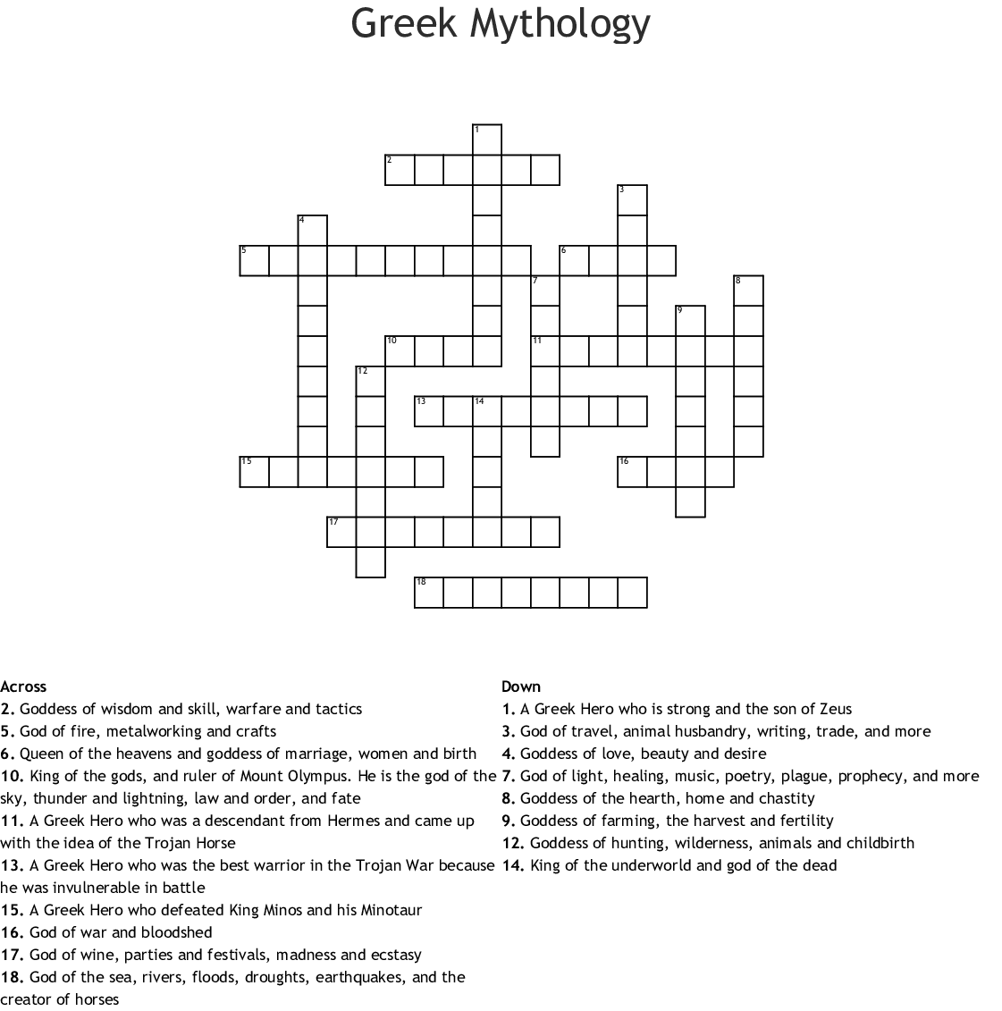 Zeus Word Search