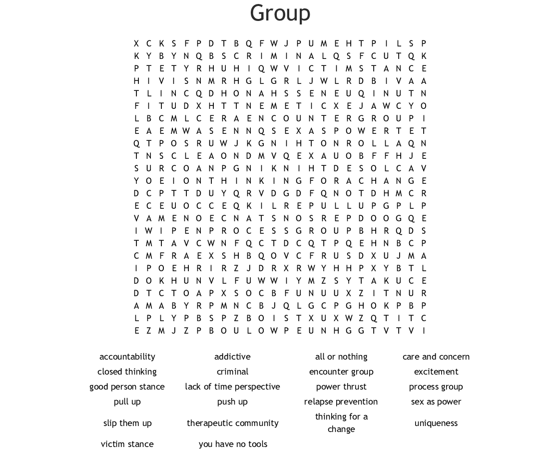Group Word Search