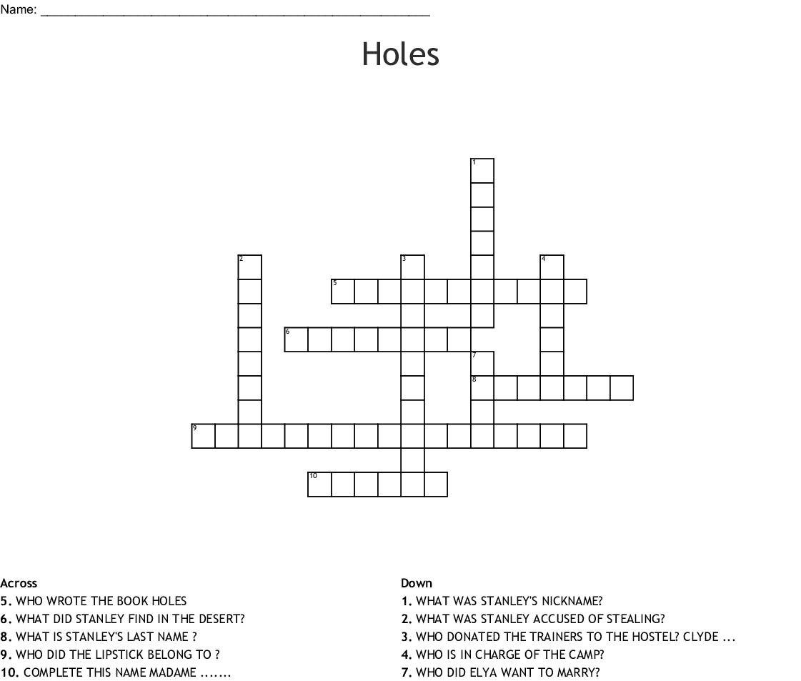 Holes Crossword