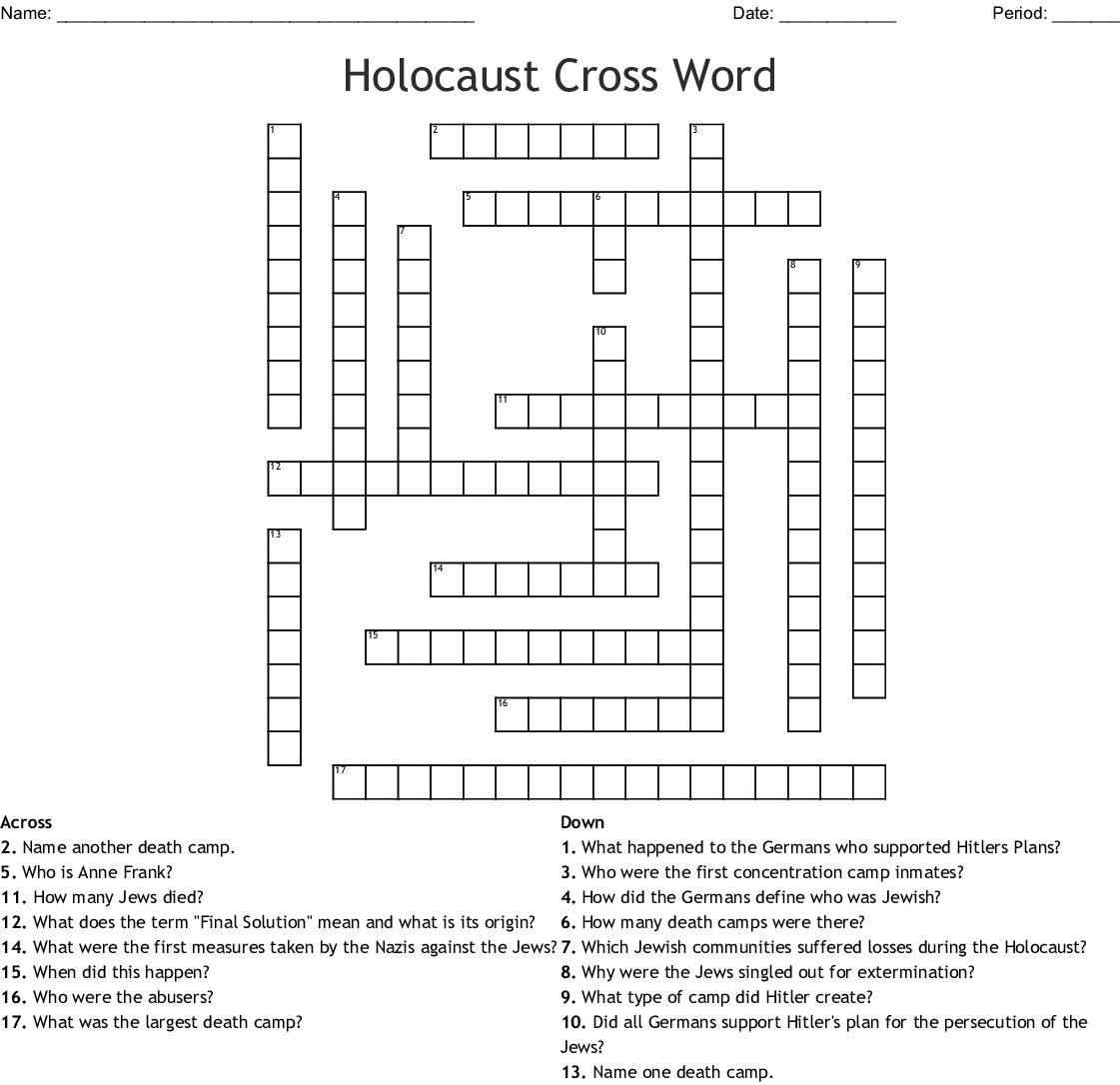 Holocaust Cross Word