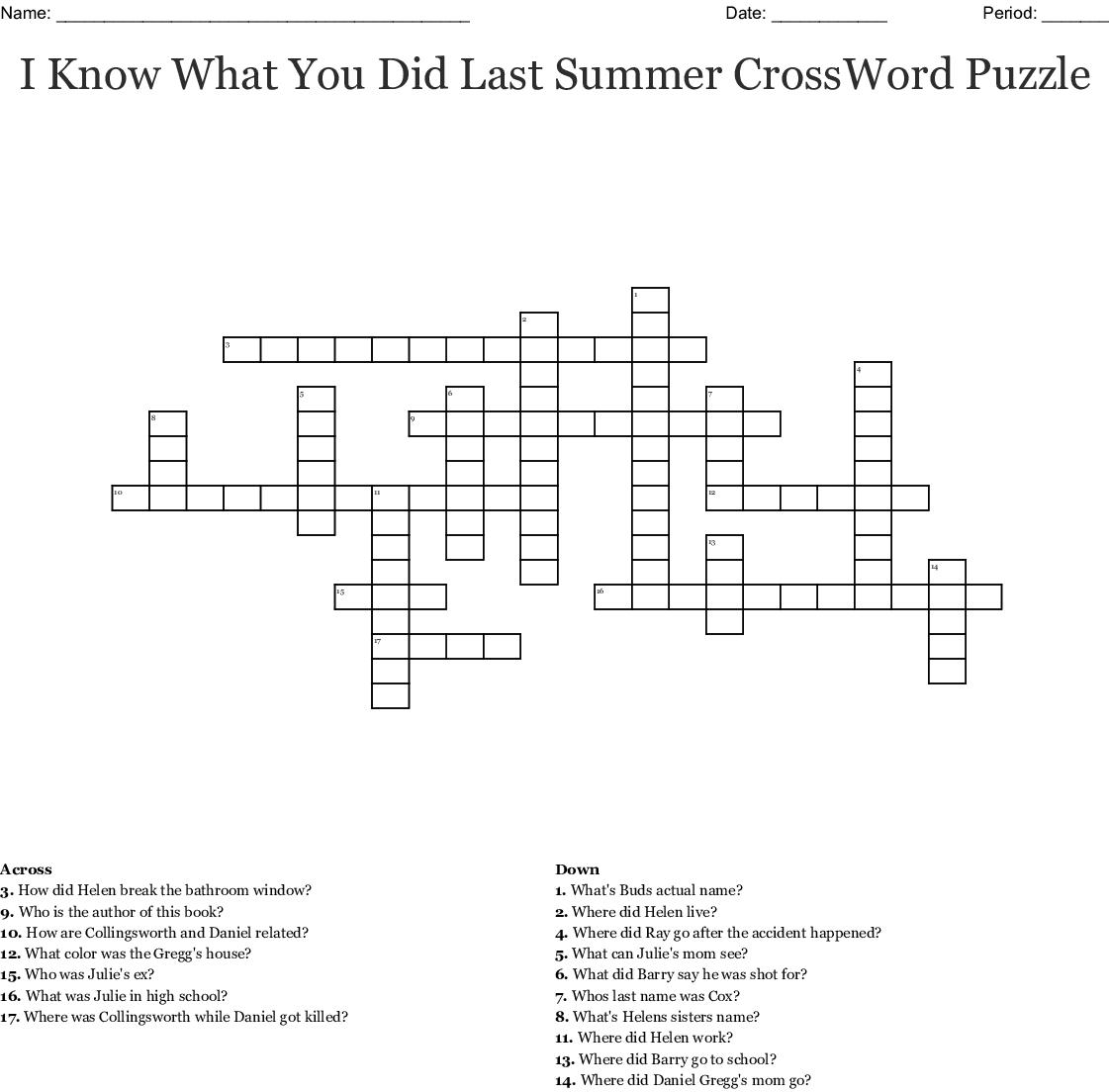 Lesson 22 Crossword