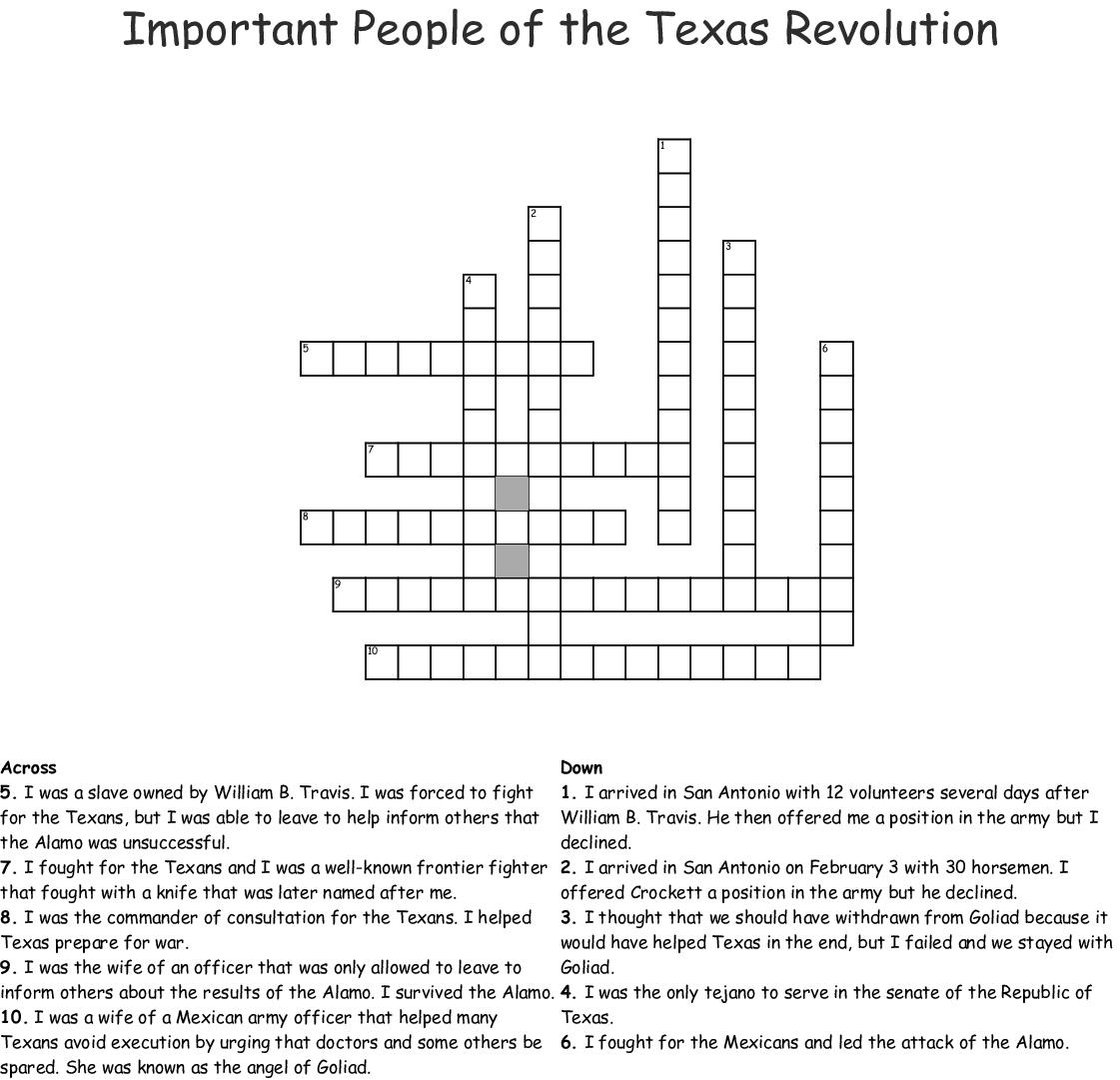 The Alamo Word Search
