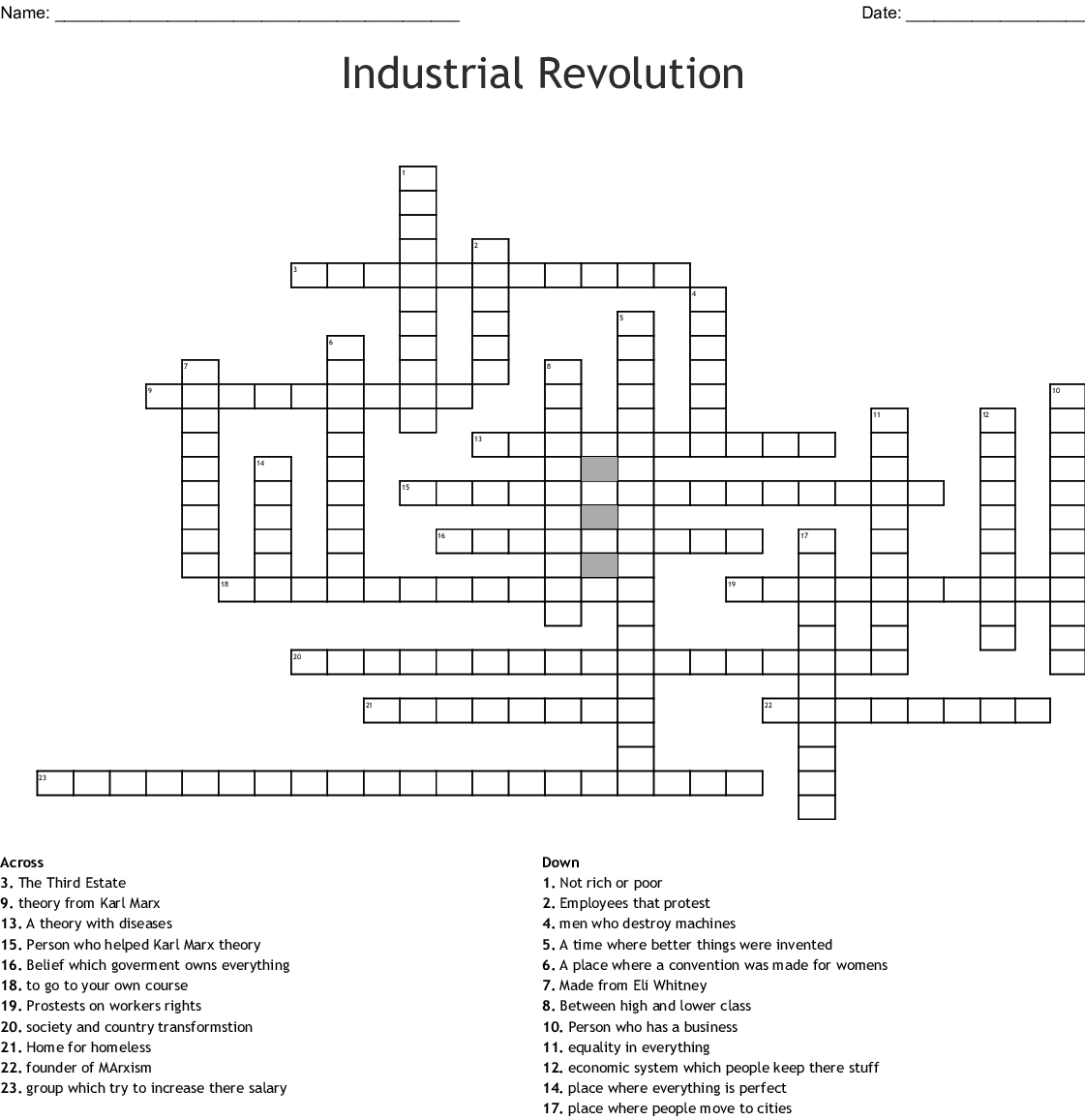 The Second Industrial Revolution Worksheet Answers