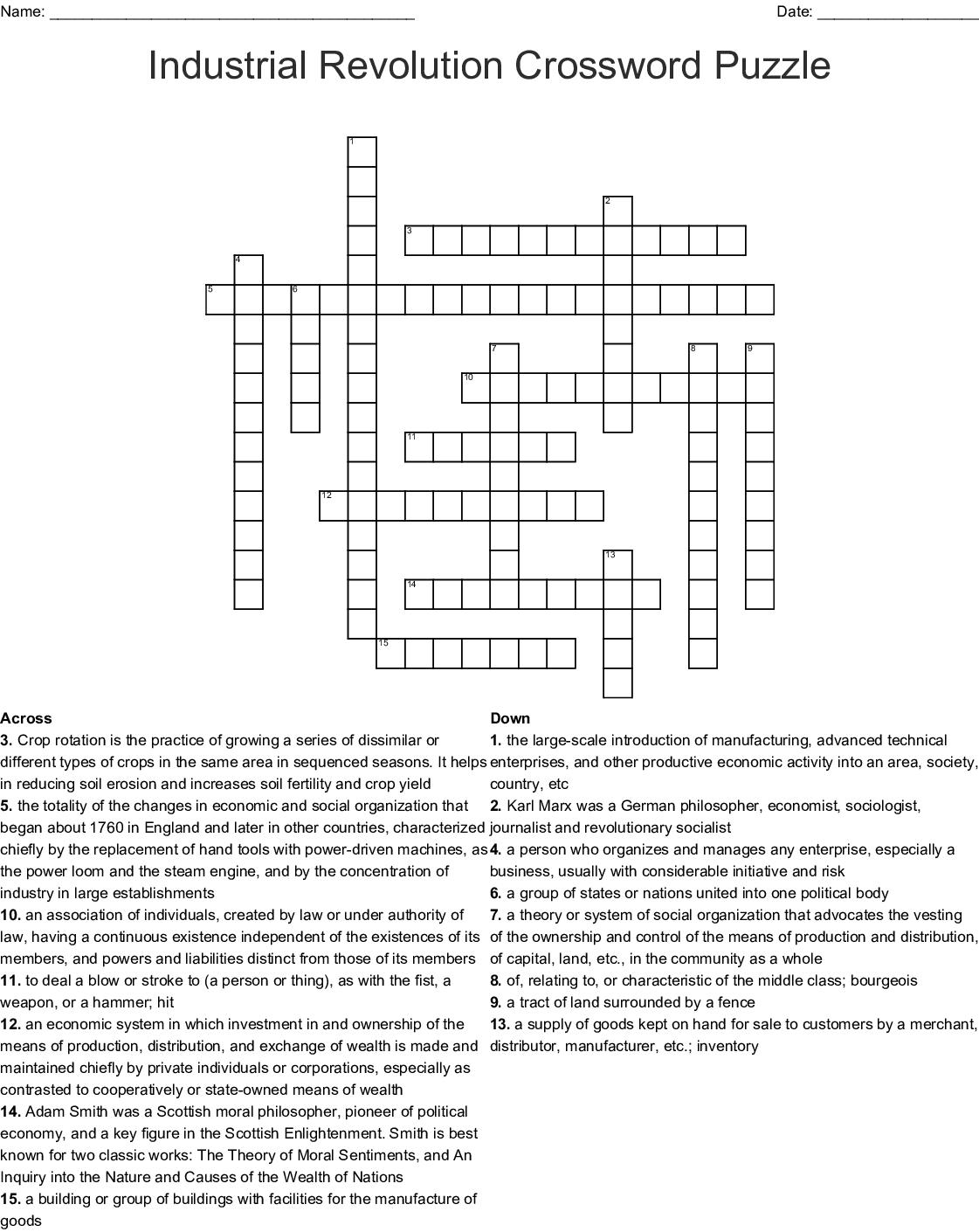 Agriculture Crossword