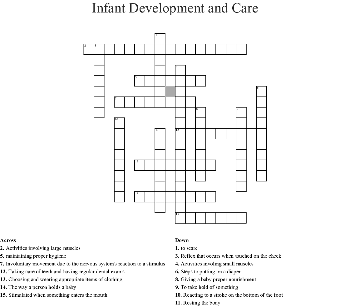 Child Development Crossword