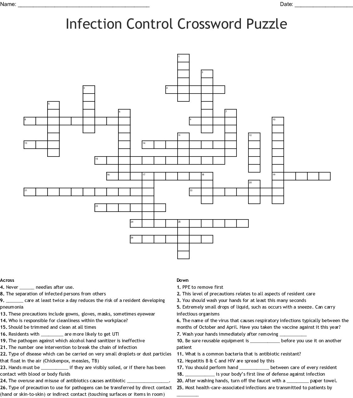 Malignant Hyperthermia Crossword