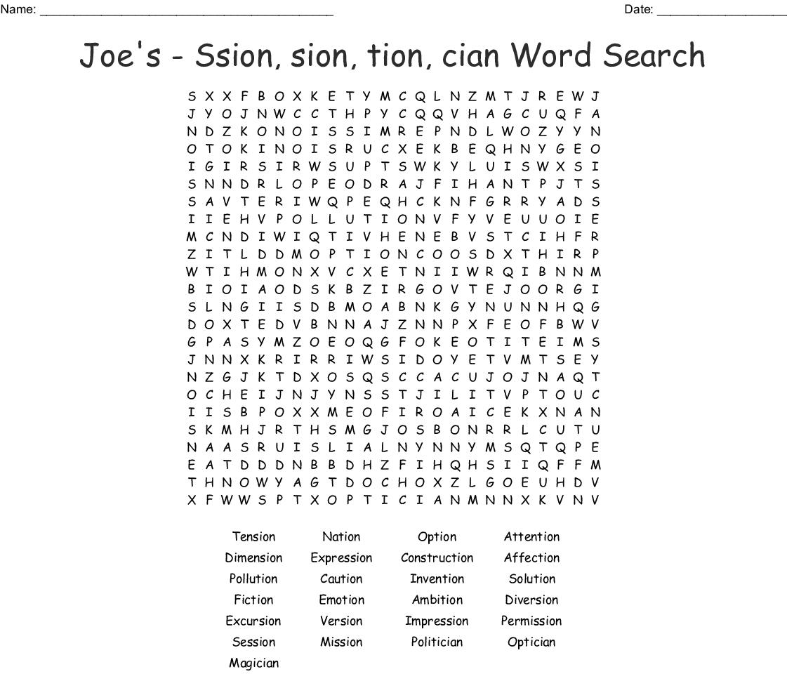 Consonant Digraph Sh Word Search
