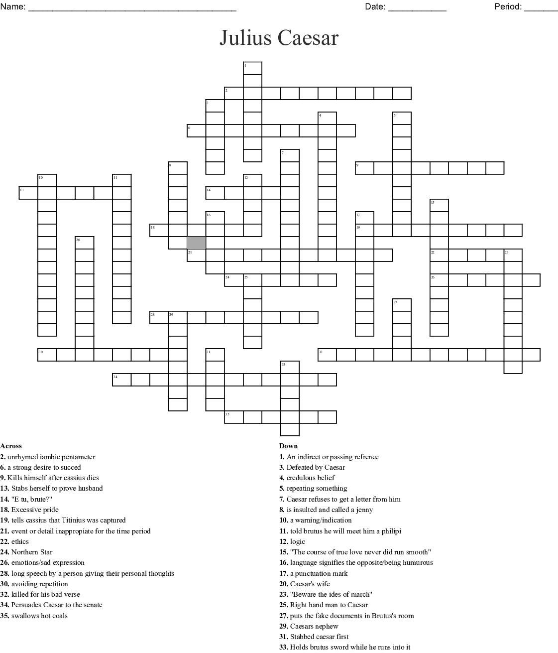 Julius Caesar Crossword