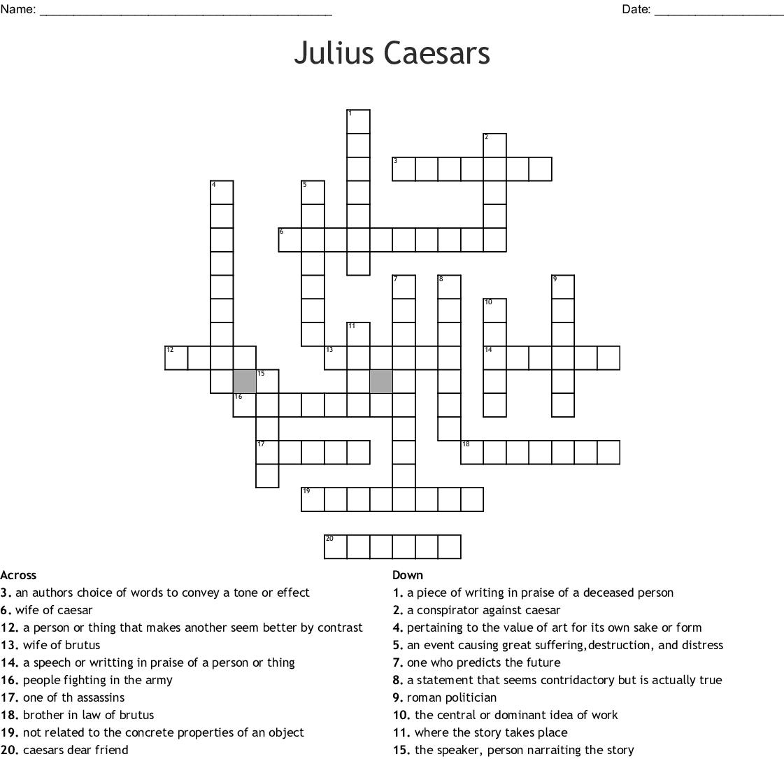 Julius Caesars Crossword