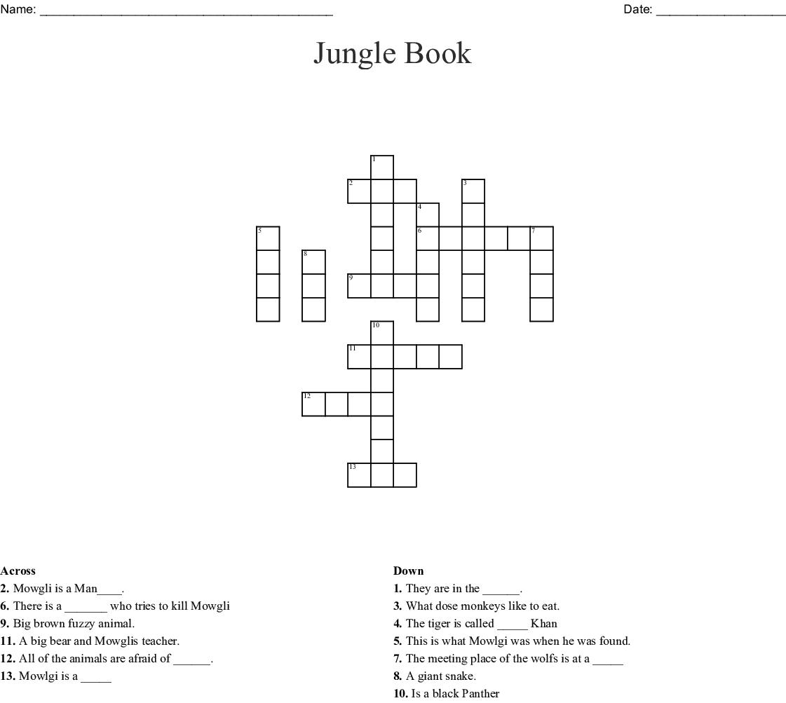 Jungle Book Word Search