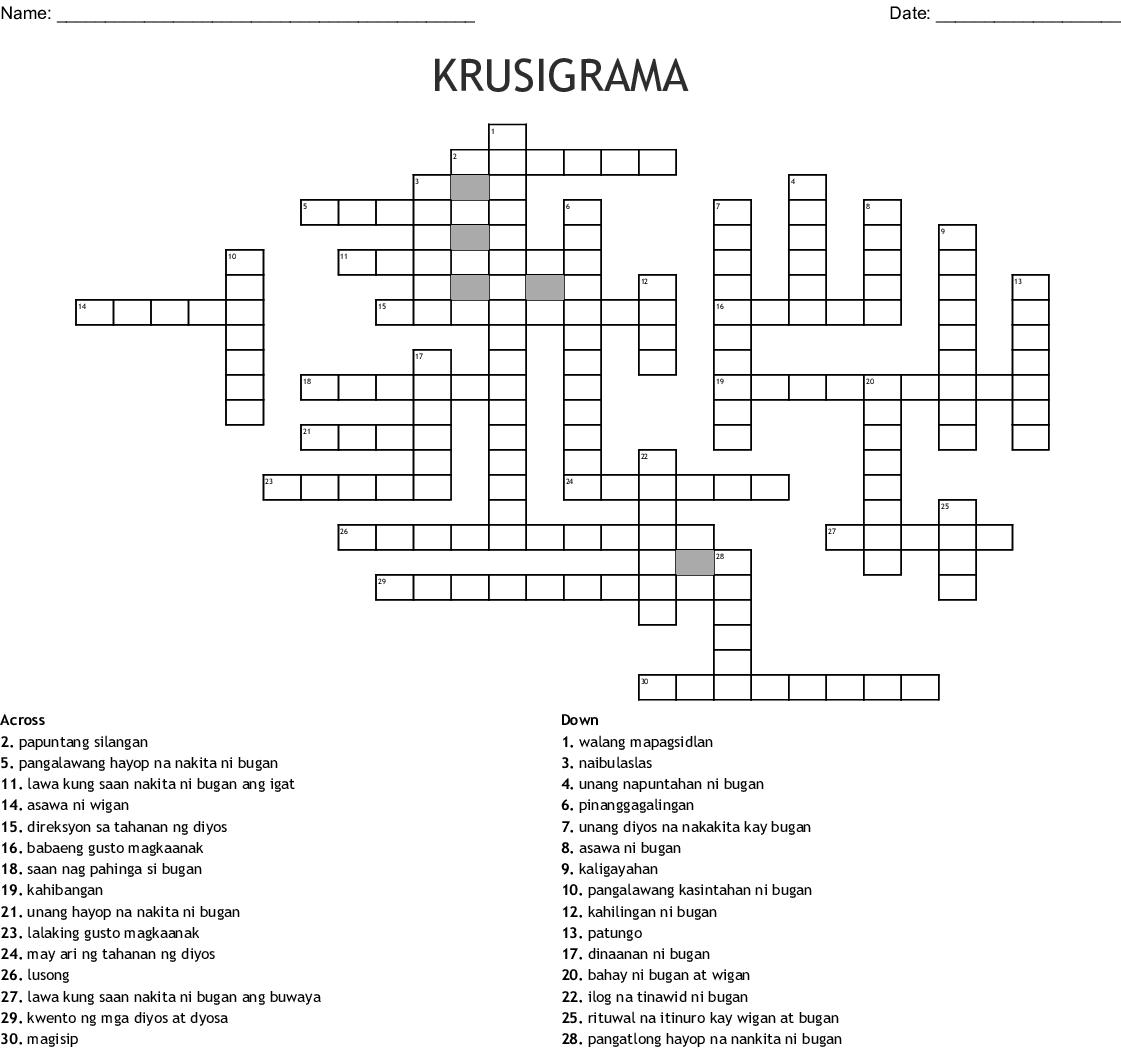 Wigan At Bugan Crossword