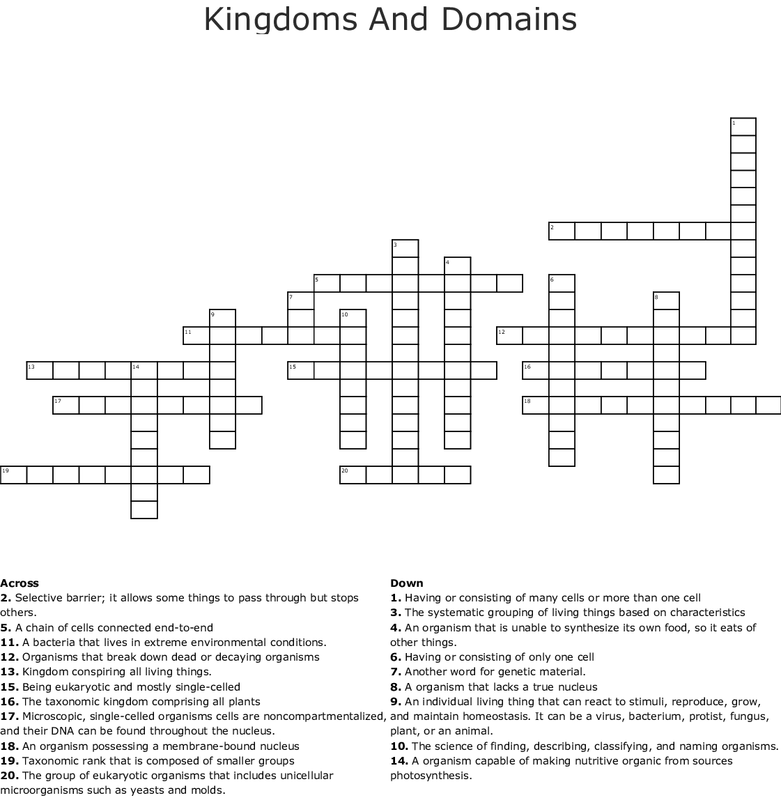 32 Domains And Kingdoms Worksheet Answers