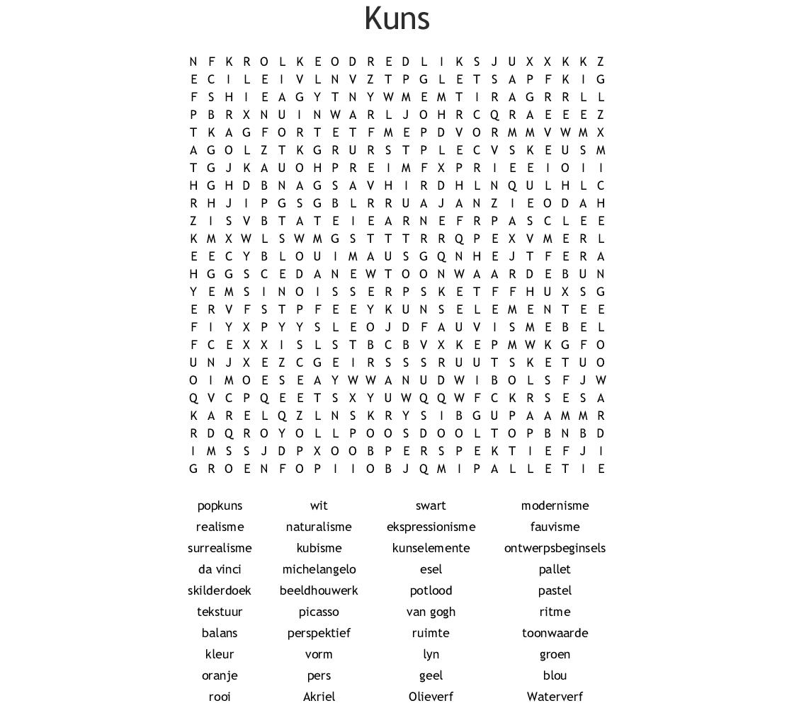Drama Word Search
