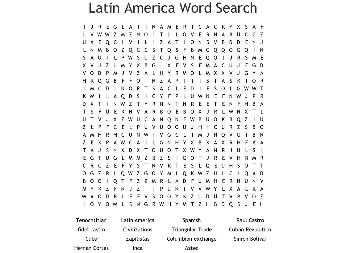 Spanish Word Searches Printable That Are Epic