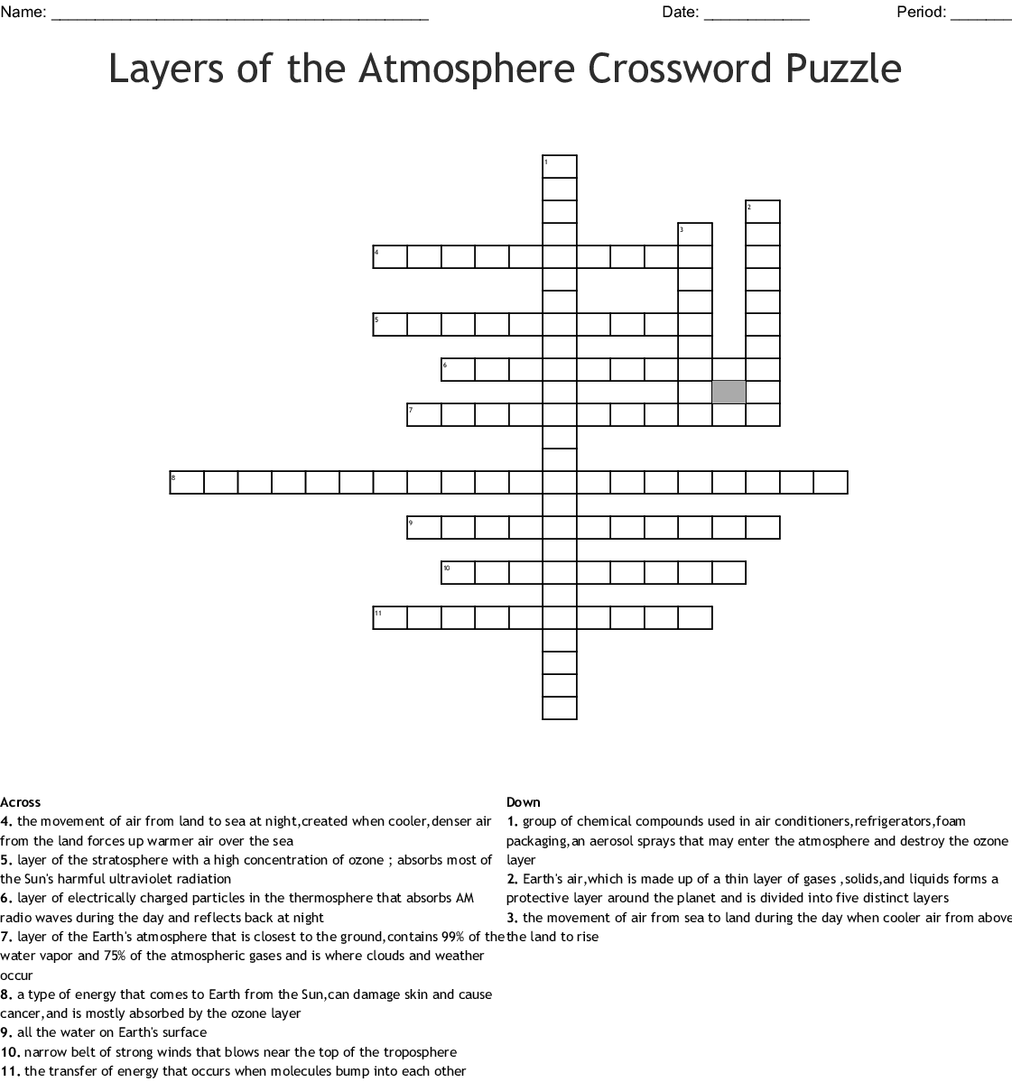 The Story Of Creation Genesis 1 2 Kjv Crossword