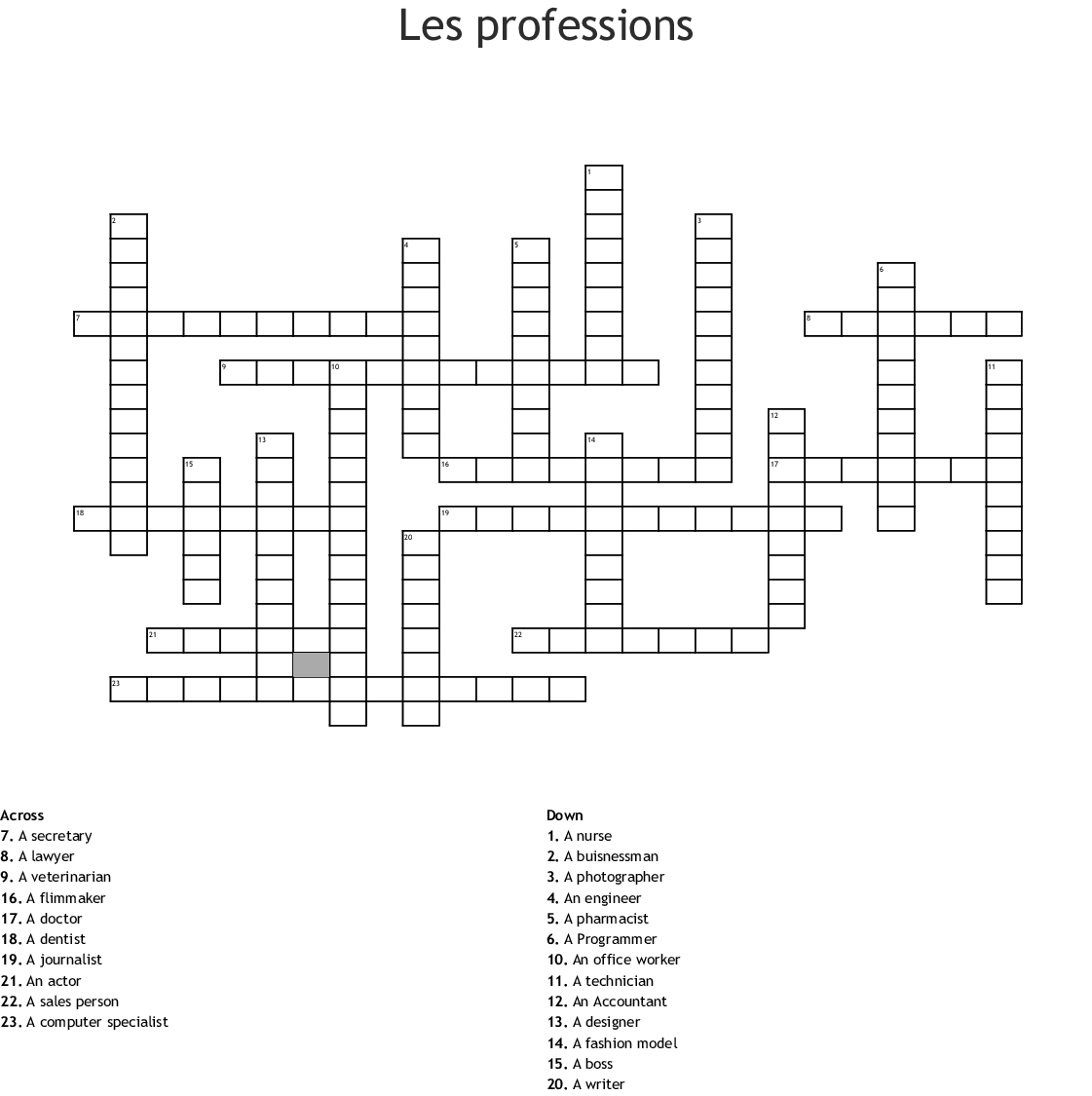 Occupations Word Search