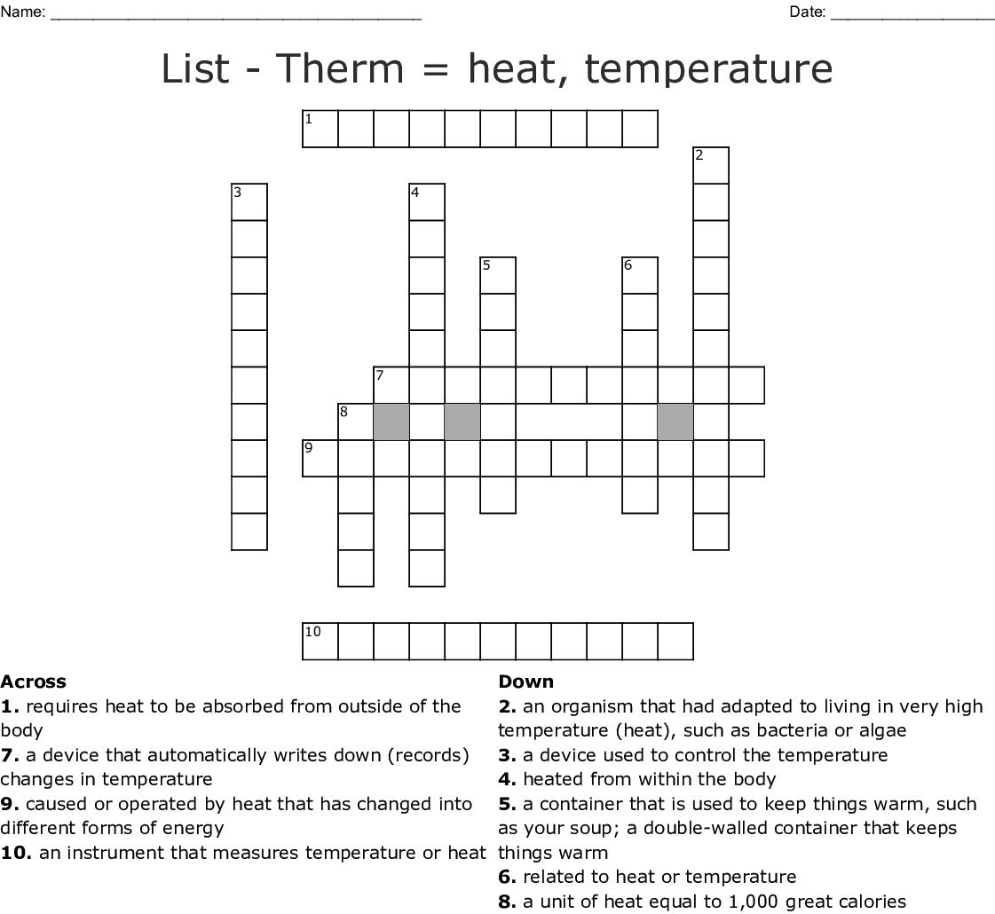 Body Temperature Worksheet