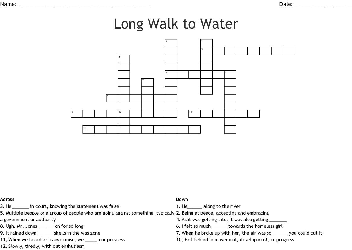 Long Walk To Water Crossword