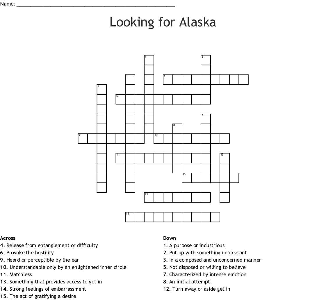 Looking For Alaska Word Search