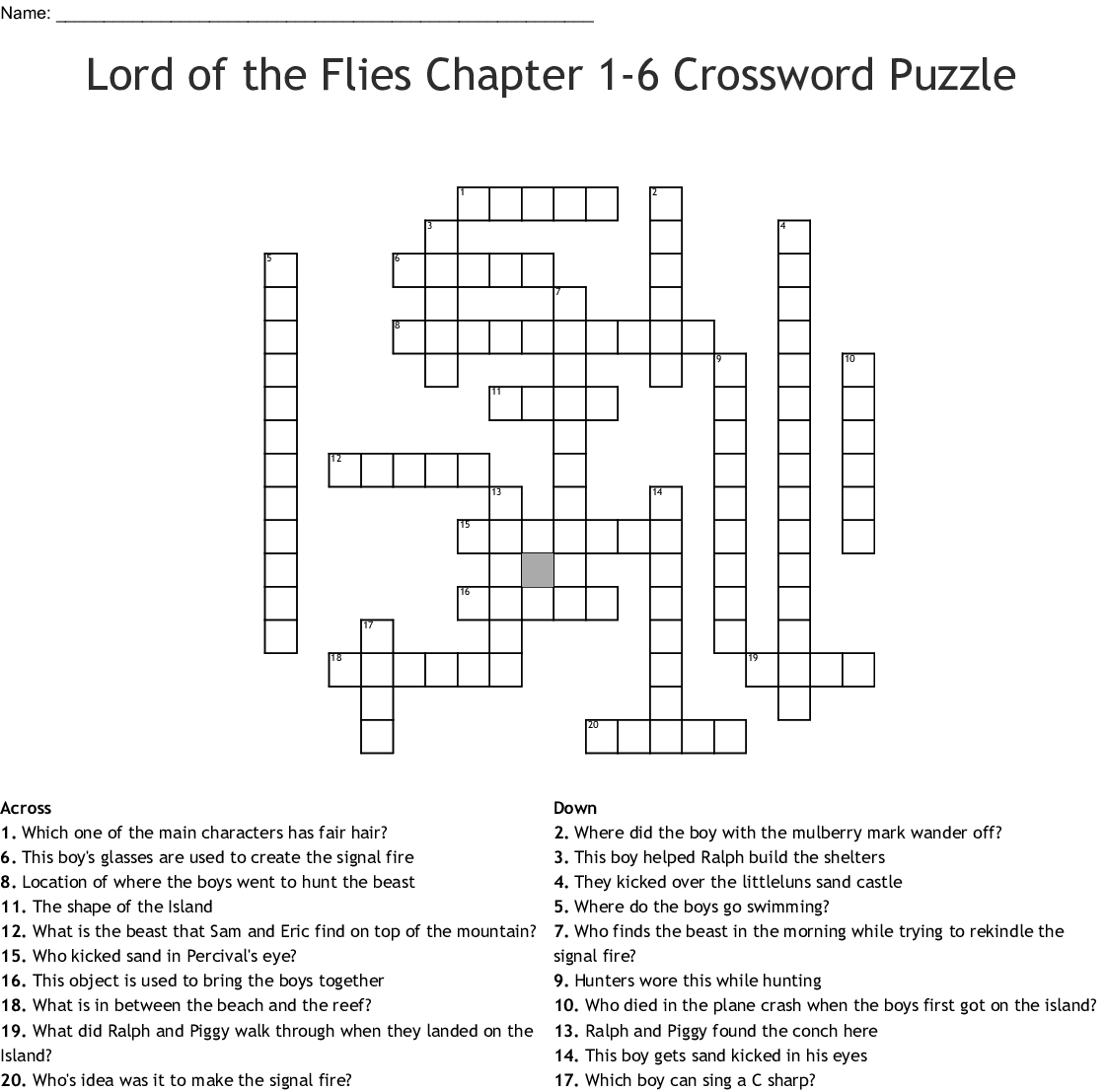 Call It Courage Crossword