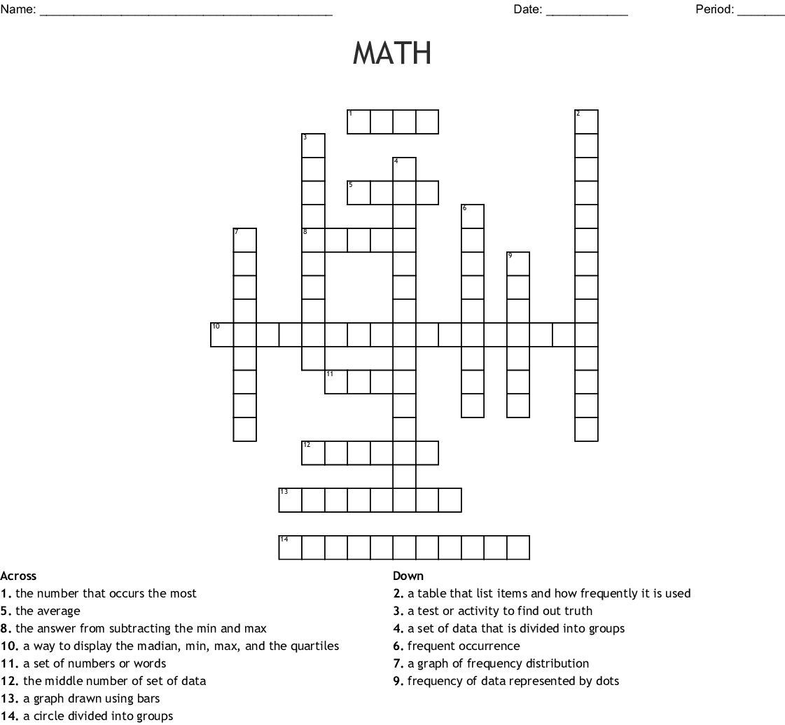 Math Crossword