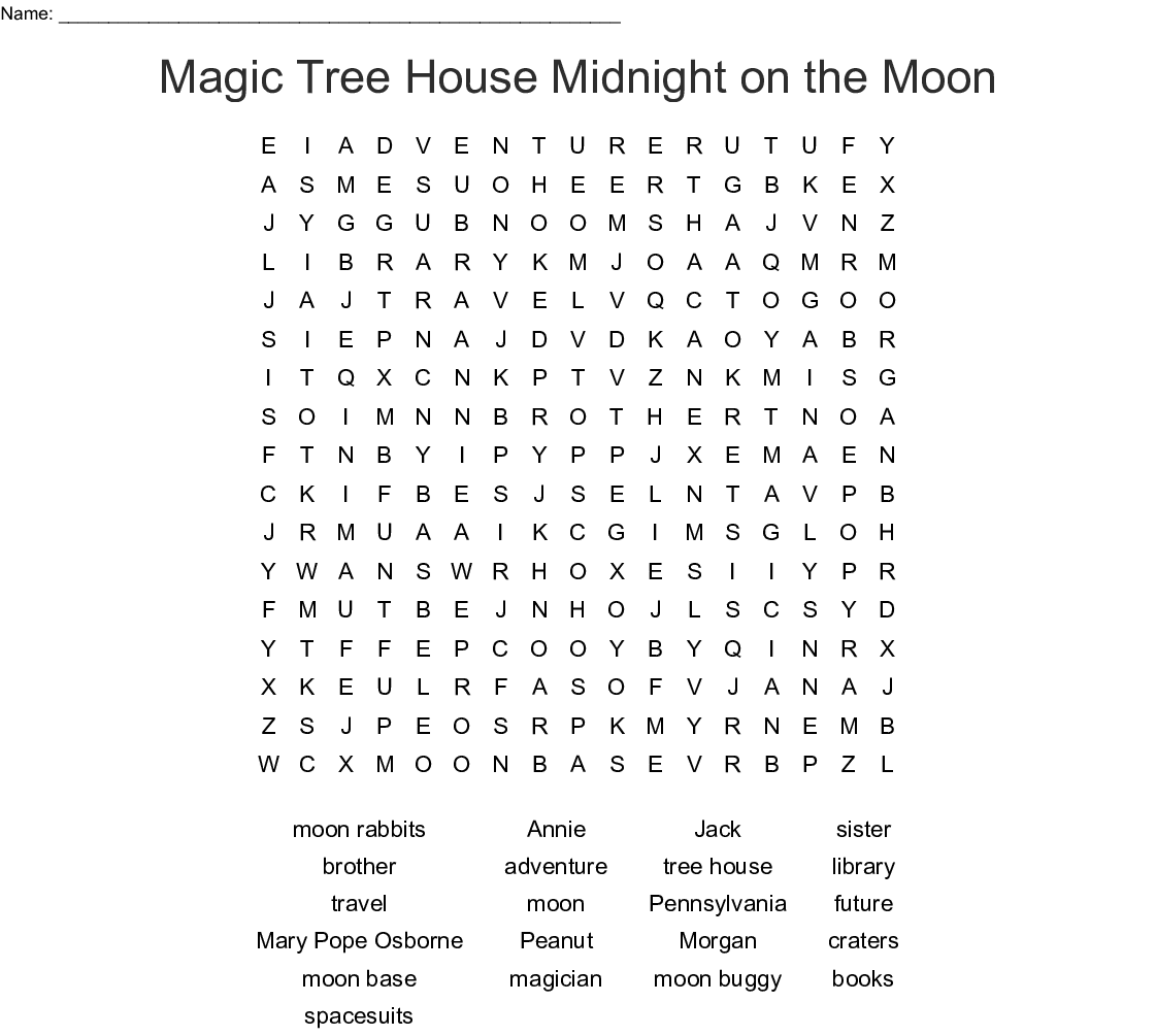 Night Of The Ninjas Word Search