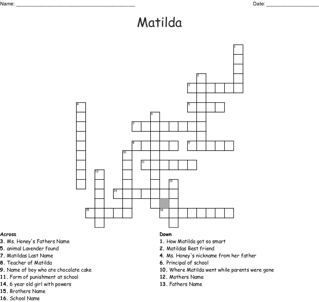 Matilda Crossword