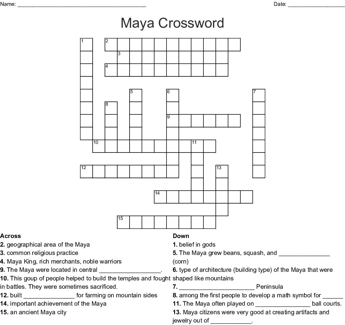 The Maya Crossword