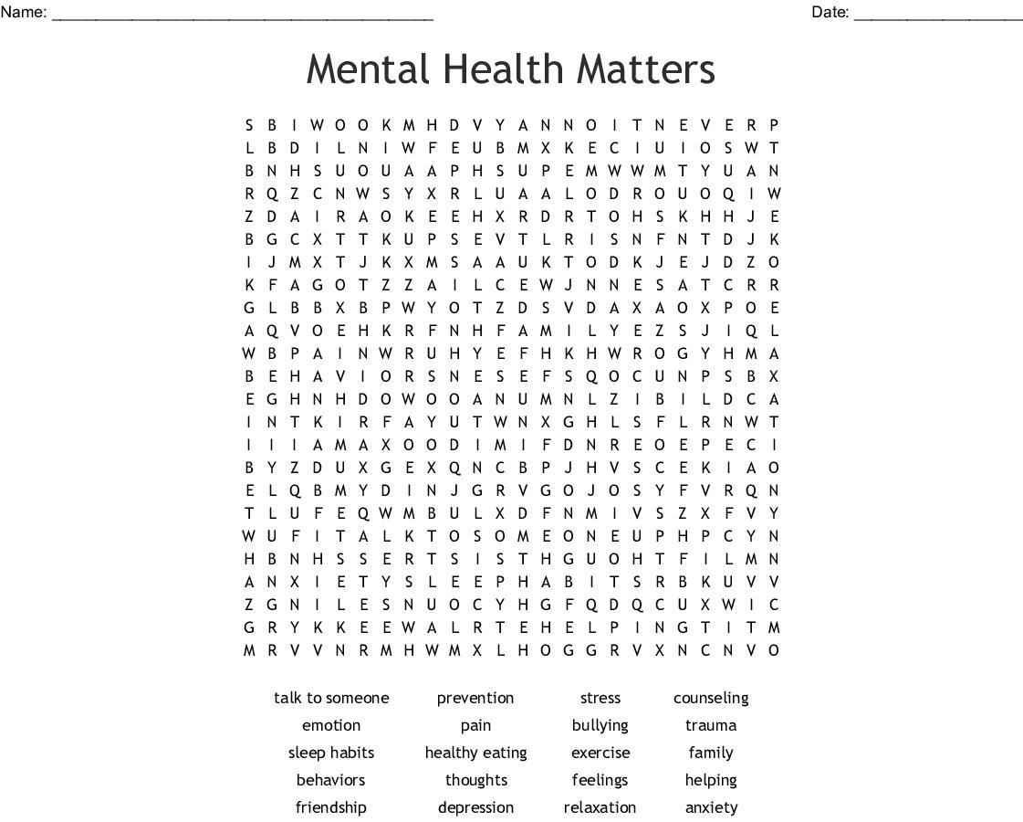 Stress Words Worksheet