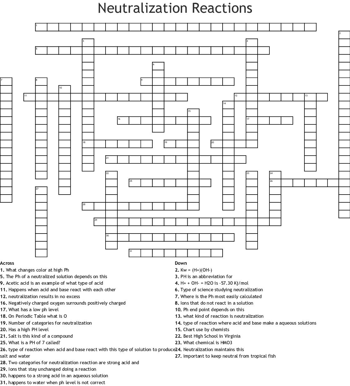 Electrolysis Worksheet