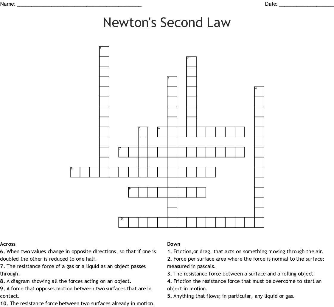 Newtons 2nd Law Worksheet Answers