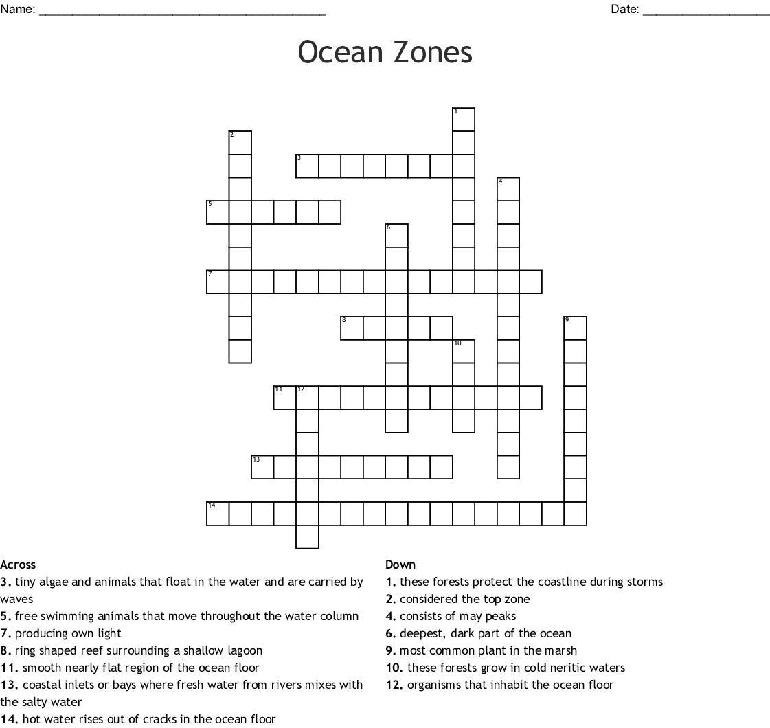 The Ocean Floor Answer Key