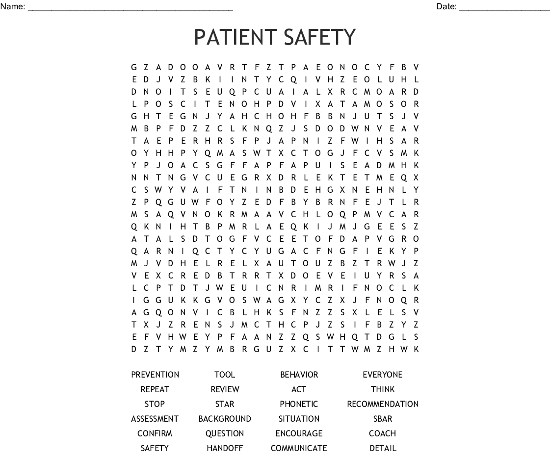 Safety Quiz Crossword
