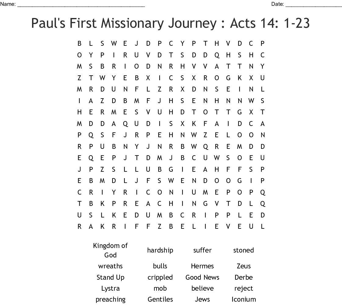 Romans 1 16 Word Search