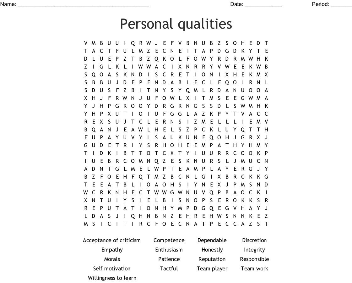 Empathy Word Search