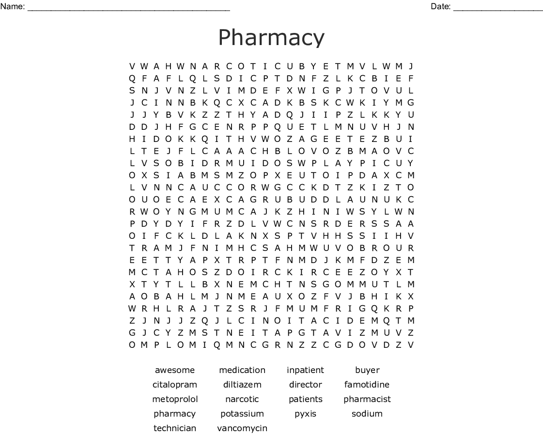 Hospital Week Word Search