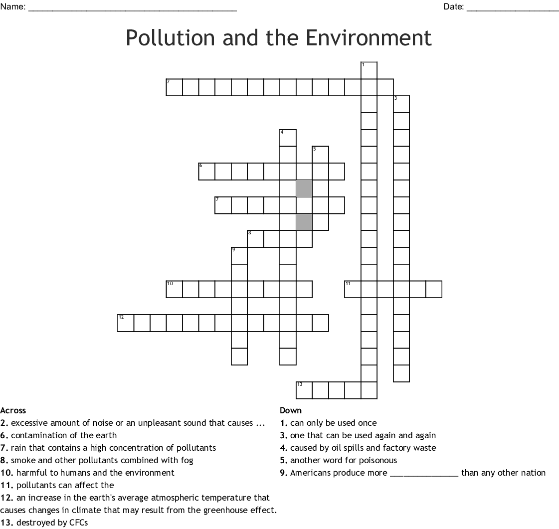Made By Teachers Atmospheric Pollution Worksheet Answers