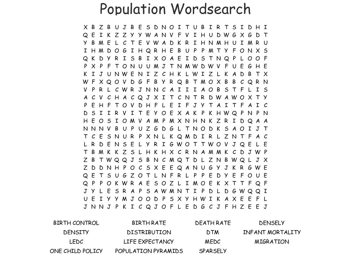 Migration Wordsearch