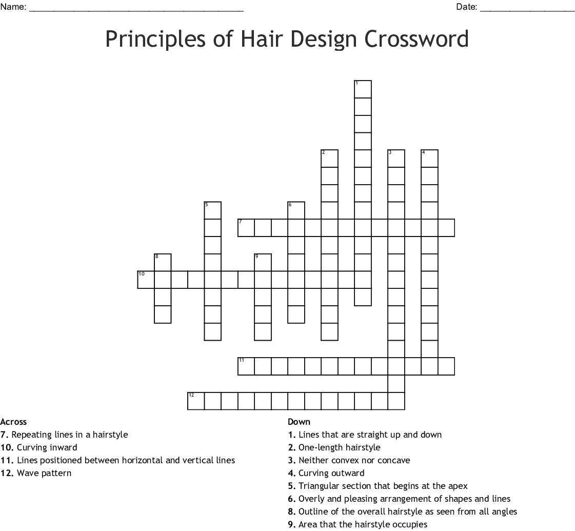 Straight Line In A Hairstyle Crossword