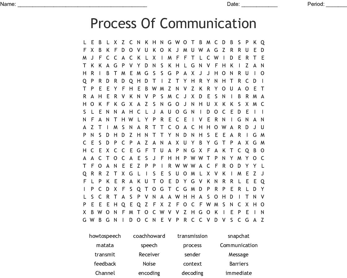 Communication Cross Word